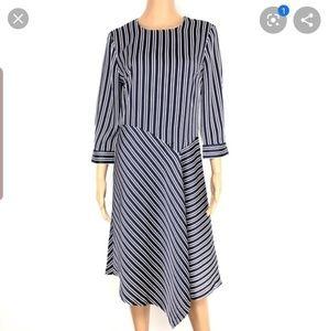 Banana republic stripe asymmetric dress